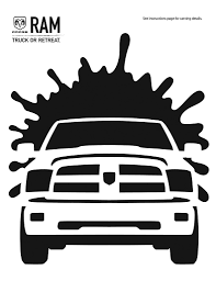 halloween silhouettes template the ram truck template to make your pumpkin the toughest hardest