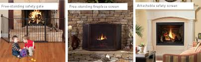 Free Standing Fireplace Screens by Monessen Hearth Fireplace U0026 Stove Glass Safety