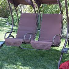 Patio Furniture Swing Set - new outdoor swing set 2 person patio frame padded seat furniture