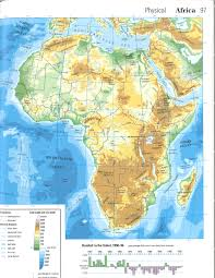Physical Africa Map by Physical Map Of The World My Blog
