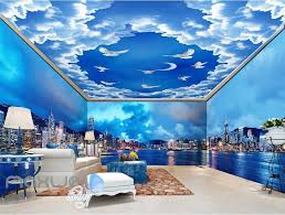 3d modern city cloud sky wall murals wallpaper decals art print 3d modern city cloud sky wall murals wallpaper decals art print idcqw 000316