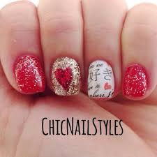 red sultry nails chic nail styles