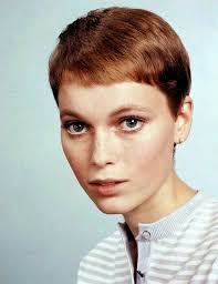 30 beautiful portraits of mia farrow with pixie haircut in the