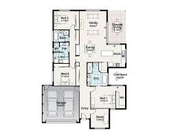 Simple One Story House Plans by Simple 3 Bedroom House Floor Plans Single Story Flat Plan On Half