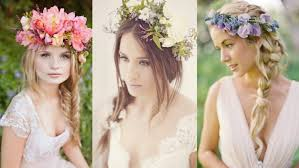 wedding flowers in hair braided wedding hairstyles with flowers
