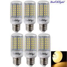 youoklight e27 6w led corn bulb lamp warm white 3000k 96 smd 6pcs