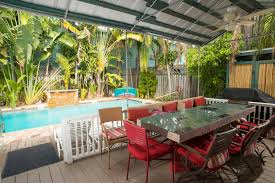 Dining Area Outside Seaside Place Key Vacation House Rental