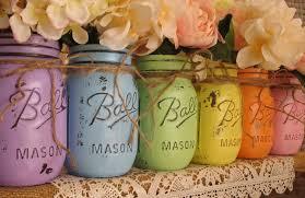 Vintage Vases For Sale Easter Sale Set Of 6 Pint Mason Jars Ball Jars Painted