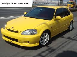 type r honda civic ek9 sunlight yellow type r honda civic ek9