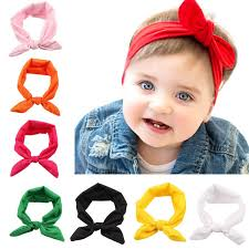 newborn hair bows stylish baby headband kids elastic rabbit ear knot hairband