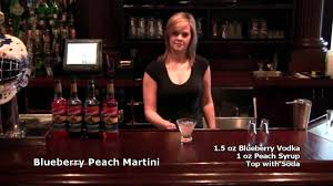 martini blueberry blueberry peach martini with torani peach syrup youtube