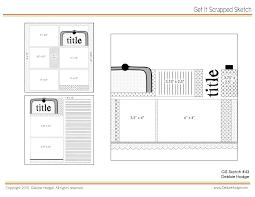 scrapbook page sketch and template bundle april 2 2010