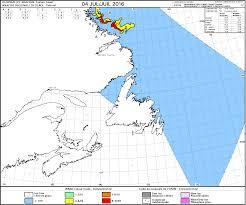 Newfoundland Map Ice Floes Off The Coast Of Labrador And Newfoundland Cimss