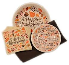 thanksgiving disposable paper plates and napkins