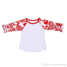 valentines day shirt 2018 day baby t shirt heart pattern ruffle icing