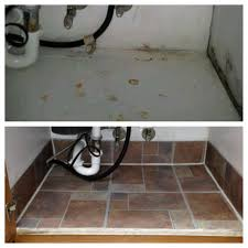 Damaged Kitchen Cabinets Before And After Under Kitchen Sink Cabinet Done With Less Than