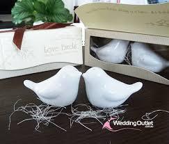 salt and pepper wedding favors birds salt and pepper shakers wedding favours