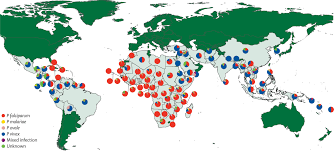 the geography of imported malaria to non endemic countries a meta