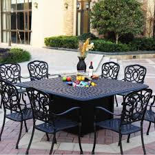 Umbrellas For Patio Tables by 9 Piece Patio Dining Set Ove Decors Calais 9piece Outdoor Dining