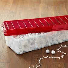 christmas tree storage box 44 gal christmas tree storage box with wheels the container store