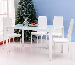 amazon com merax 5pc glass top dining set 4 person dining table