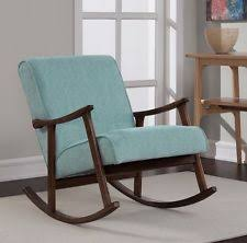 Mid Century Modern Rocking Chair Mid Century Design Modern Vintage Rocking Rocker Chair Retro Gray