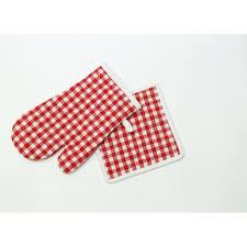 soleil d ocre manique et gant de cuisine vichy achat vente