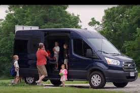 ford transit wagon video family ditches minivan for fullsize ford transit