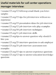 Operations Manager Resume Examples by Top 8 Call Center Operations Manager Resume Samples