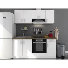 cuisine complete evo cuisine complète l 180 cm blanc mat achat vente cuisine