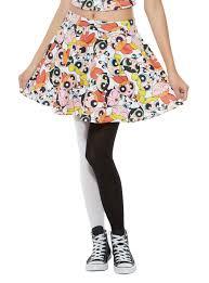 the powerpuff girls allover circle skirt topic