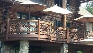 Ideas For Deck Handrail Designs Deck Railing Designs Log Home Handrail Best Rustic Forfind Your