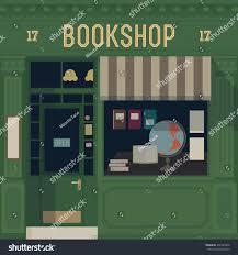 vector bookshop detailed facade background stock vector 207461860