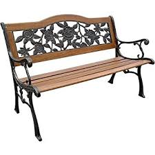iron park benches amazon com dc america slp2660brsp rose resin back park bench
