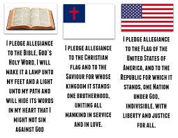 Flag With Bible Pledge To The Christian Flagworld Of Flags World Of Flags