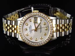 diamond rolex rolex datejust jubilee 18k stainless steel with white dial diamond