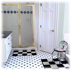 Black And White Bathroom Design Ideas Colors Black White Tile Bathroom Pictures
