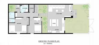 modern home floor plan a fresh home with open living area courtyard int 621