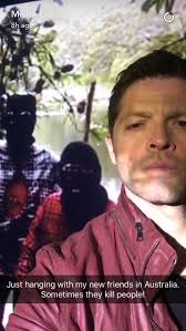 Spn Kink Meme Delicious - just hanging with new friends in australia misha collins