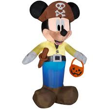 outdoor halloween decoration airblown inflatable mickey as pirate