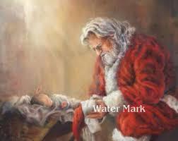 santa and baby jesus santa and baby jesus etsy