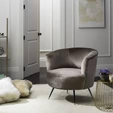 Mid Century Modern Accent Chair Safavieh Mid Century Modern Arlette Grey Velvet Accent Chair