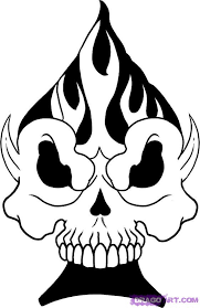 how to draw a spade skull by skulls pop culture free