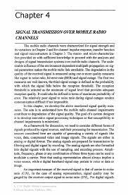 signal transmission over mobile radio channels springer
