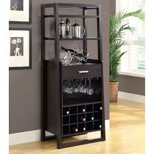 Black Bar Cabinet Funiture Thin Home Bar Cabinet Designs In Black Wooden Material