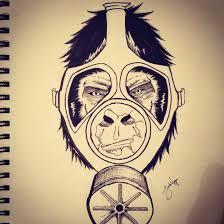 grorilla gas mask by abathingnerd on deviantart