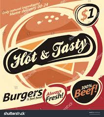 burger house flyer template poster design stock vector 196902458