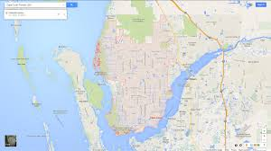 Southwest Florida Map Map Of Cape Coral Florida Area My Blog