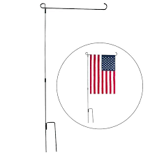 table top flag stands garden flag stands sturdy 3 piece black wrought iron garden flag