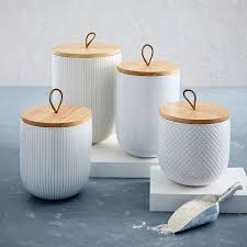 textured kitchen canisters west elm
